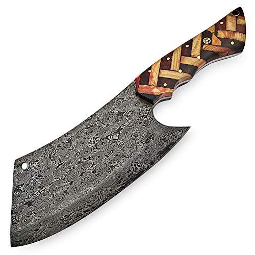 9838 artesanal de acero de Damasco con vaina |Damasco Billette|Accesorios para cuchillos|Cuchillo...