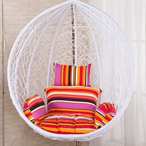 Yuany Swing Patio Tuinstoel Weave Ei Kussen binnen of buiten, Swing Hangende Basket Stoel Kussen (Kleur : Oranje)