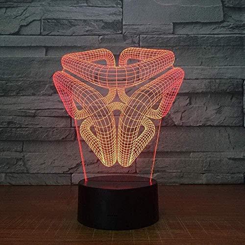 3D ilusión luz lava Lámparas para niños dormitorio Accesorios para adolescentes niños 16 cambio de color LED lámpara escritorio mesa luz lámpara regalo niños