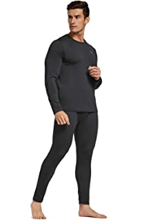 Men's Lightweight Thermal Underwear Sets Long Johns with Fleece Lined Tights for Indoor&Outdoor