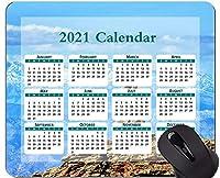 2021年カレンダーマウスパッド、秋の季節の自然マウスパッド