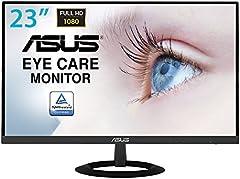 "Asus VZ239HE - Monitor Ultrafino de 23"" FullHD (1920x1080, IPS, LCD, 75 Hz, 5 ms, 250 cd/m², 16:9, HDMI, Antiparpadeo y Luz azul de baja intensidad) Negro"