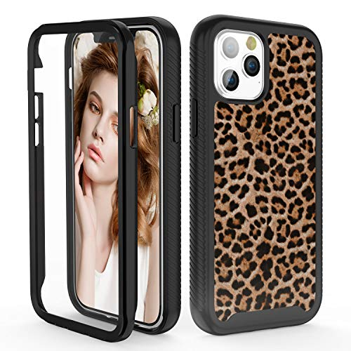 iDLike for iPhone 12 Case,for iPhone 12 Pro Case for Women Girls,Leopard Cheetah Print Hybrid 2 in 1 Rugged Bumper High Impact Sturdy Protective Shockproof Case for iPhone 12/12 Pro 6.1,Leopard