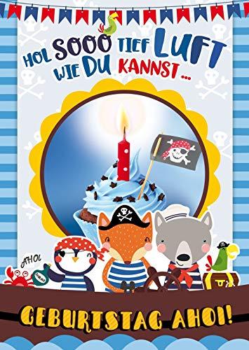 bentino Geburtstagskarte für Jungs mit leuchtender
