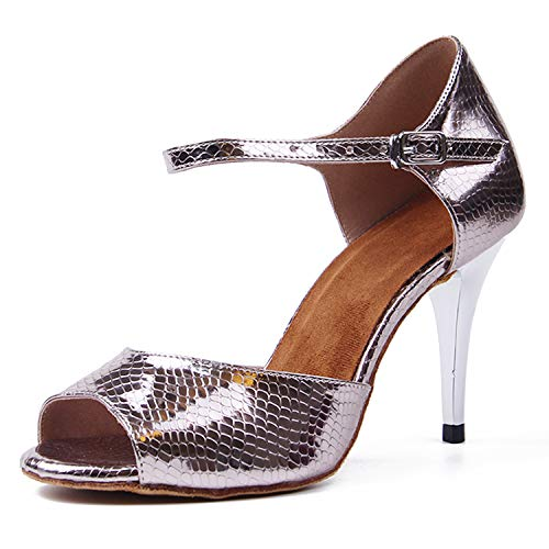 Syrads Zapatos de Baile Latino para Mujer Salsa Tango Bachata Vals Zapatos de Baile de Salón Suela Blanda 1049