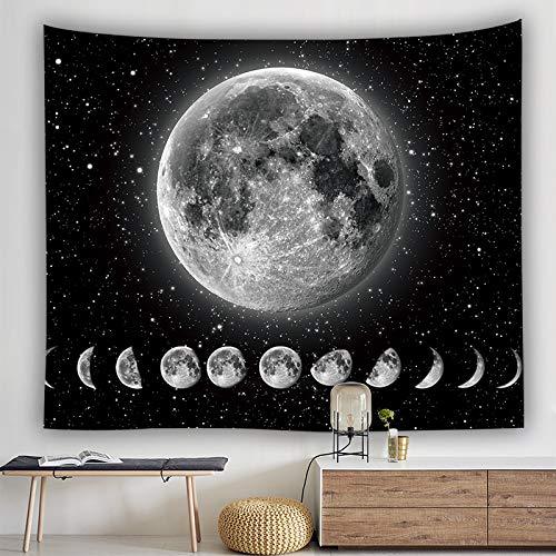 Peoxio Tarot Wandteppich,Mond, Stern, Sonne, Mittelalterliches Europa, Divination Tapisserie, Wandbehang, Dekoration, geheimnisvoll für Schlafzimmer, Heimdekoration (Moon Eclipse