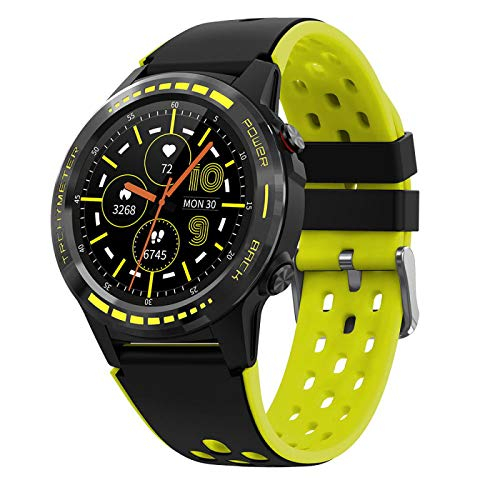 M7 Smart Watch, Fitness Tracker, New In 2021, Ip65 Waterproof, with Oxygen Saturation, Bluetooth Call, Children's Male and Female Pedometer,Removable Strap(Yellow)
