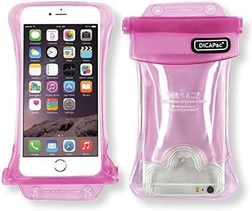 DiCAPac Waterdichte telefoonhoes geschikt voor Oppo A33A37 Octa Corebeschermhoes voor smartphone met draagriem en airbagroze