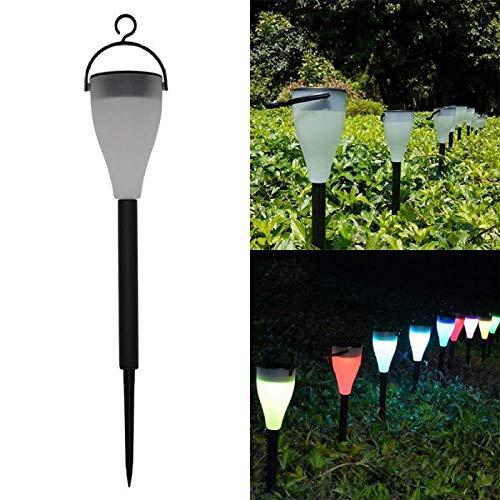 STHfficial 1 stuk LED verkleuring gekleurde outdoor zonne-energie gazonlichten 3 modi tuinlampen