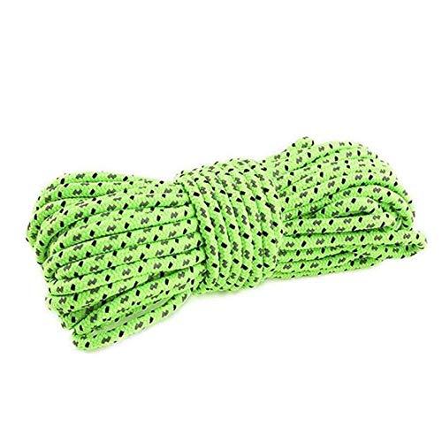 wxqym Escalada al Aire Libre 10M Cuerda Escalada de Hielo Equipo de Alta Resistencia Supervivencia de Seguridad Cuerda de Escalada, Verde (Color : Green)