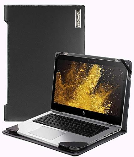 Navitech schwarzes Executives echtes Leder Case/Cover/Tasche kompatibel mit Toshiba PORTEGE Z20T-C-11E 12.5