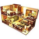 CuteBee DIY木製ドールハウス QUIET TIME ミニチュアコレクション LEDライト オルゴール プレゼント 電池AAA 2必要 (M025)