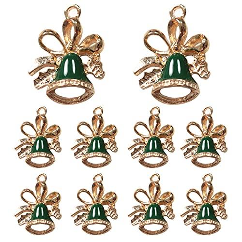 WENDAO 10 colgantes de copo de nieve, llaveros, accesorios de Navidad, pulseras, collares, colgantes, anillos, artesanías, adornos de Navidad, accesorios artesanales, regalos (10)