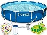 INTEX 366x76 cm Prism Metal Frame Swimming Pool Schwimmbecken 28212