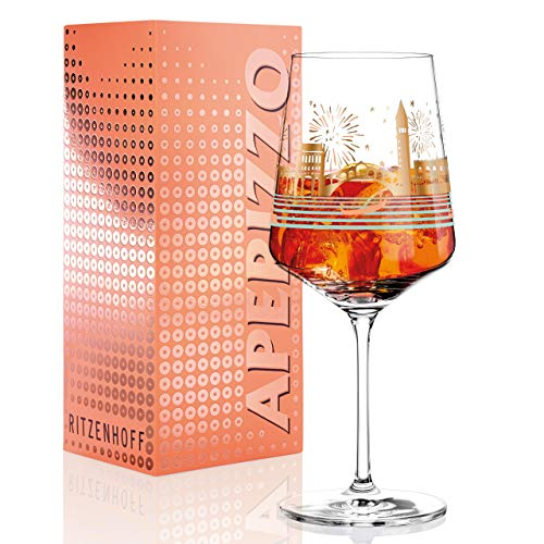 RITZENHOFF Aperizzo Aperitifglas von Daniela Melazzi, aus Kristallglas, 544 ml, mit edlen Goldanteilen