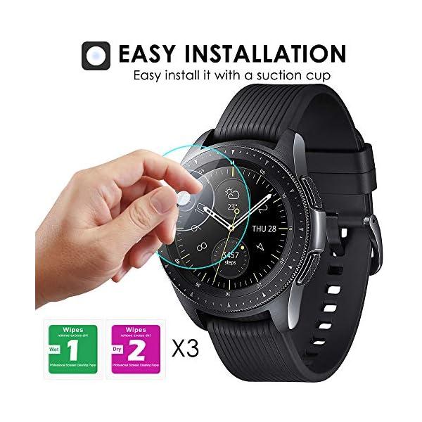 KIMILAR [3 Pcs] Pantalla Compatible con Samsung Galaxy Watch 42mm/Galaxy Watch 3 41mm Protector Pantalla, Templado… 4