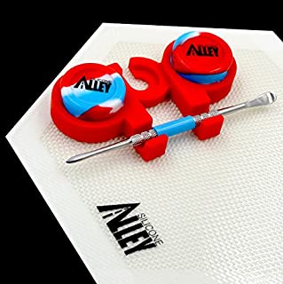 Wax Carving Kit [HEX Set - USA Edition] Hexagon Mat White (1), Carver Blue (1), Red Holder (1), Red/White/Blue 5ml Jars (2)