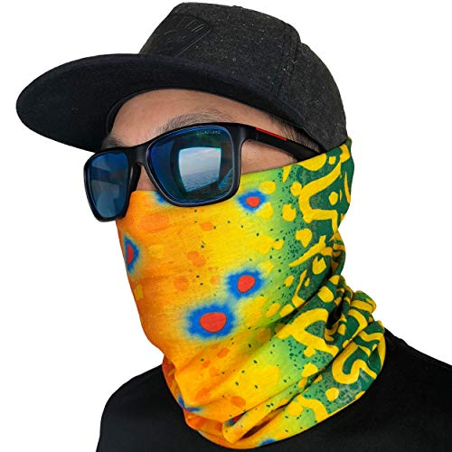 GOT Sports Fishing Face Mask Gaiter - Breathable Sun Mask, Camo Neck Gaiter, Scarf, Dust Mask, Balaclava, Bandana - Multifunctional, Breathable, Sun Protection (Brook Trout)