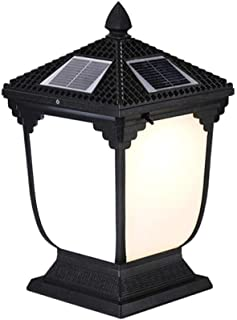 HUHN Super Bright Pillar Light, Solar Pillar Head Light, Outdoor Waterproof Garden Light, Walled Garden Villa gate