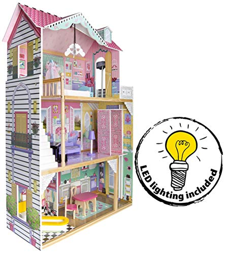Leomark New Royal Mansion Doll Apart House Mansion Casa de Muñecas de...