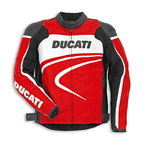 Ducati 981030250 Sport C2 Perforated Leather Riding Jacket - Red - Size 50