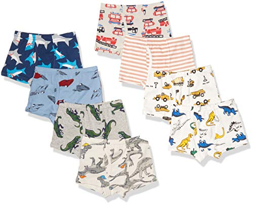 Fenhant Little Boys Soft Cotton Briefs Dinosaur Truck Shark Baby Toddler Kids Underwear 9 Pack