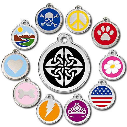 Love Your Pets Deluxe Pet ID Tags - Deep Engraved Stainless Steel - Engraving Will Last – 120 Design Choices of Pet Tags, Dog Tags, Cat Tags Most Ship Next Day (Black, Celtic Tribal)