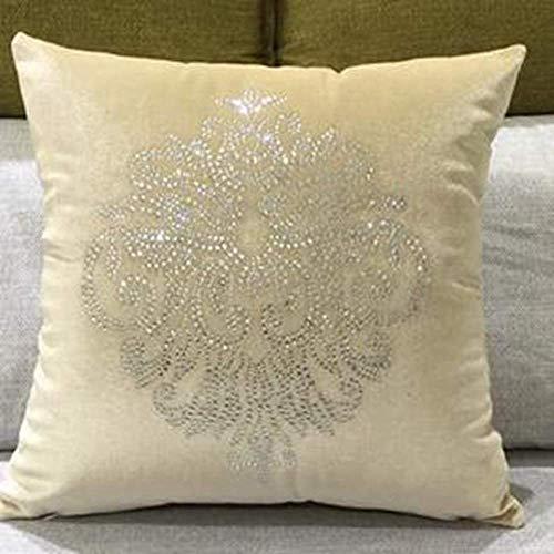 Tokyia Funda de cojínLa mejor venta de patrón de flores almohada de tela colorida cojín de la casa modelo de casa, 3,45x45cm sin relleno