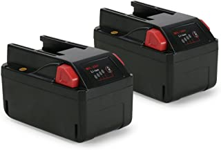 POWERAXIS 2-Pack Milwaukee 48-11-2830 M28 V28 Lithium-Ion Replacement Battery-Pack 3.0Ah with LED Fuel Gauge