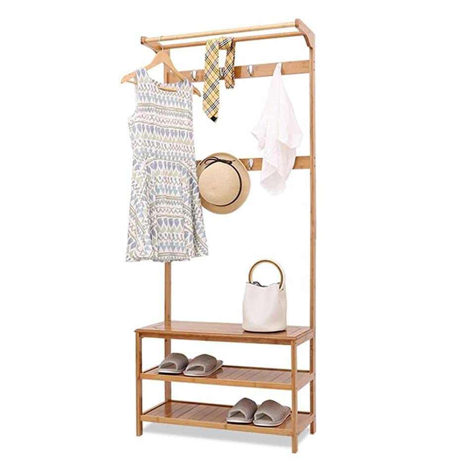 オデュッセウス決定するソース床置きハンガー、壁ハンガーリビングルーム/ベッドルーム/バスルーム/キッチン、廊下の棚の木製ディスプレイスタンド (Size : 80cm)