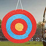 Yinuoday Natural Grass Archery Target, 24-Inch Bullseye Archery Target, Arrow Target for Adult Backyard Bows with NASP Scoring Rings