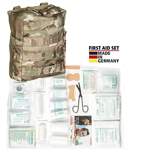 Combat First AID Set Erste Hilfe Verbandskasten US Army Bundeswehr Notfall Verbandsmaterial Verwundung Sanitäter CLS KSK SAS Seals Survival Tactical Leina #18716