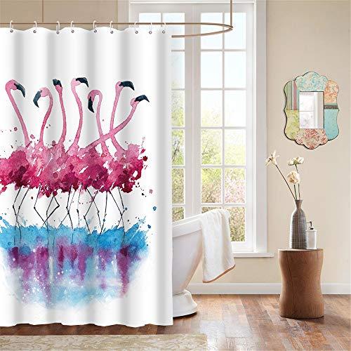 FuXing PEVA Shower Curtain Waterproof and Mildewproof Digital Printed Bath 180 x