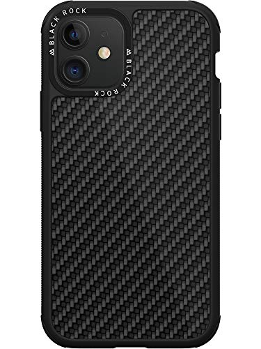 Black Rock - Hülle Carbon Case Carbonhülle Passend für Apple iPhone 11 | Fiber Cover, Handyhülle Karbon, Kabellos Laden (Schwarz)