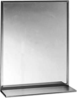 stainless steel mirror with shelf