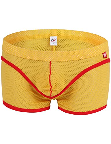 Bestgift heren boxershort polyester net ondergoed Shier G-Cup slip Low-Rise boxershorts polyester netslip