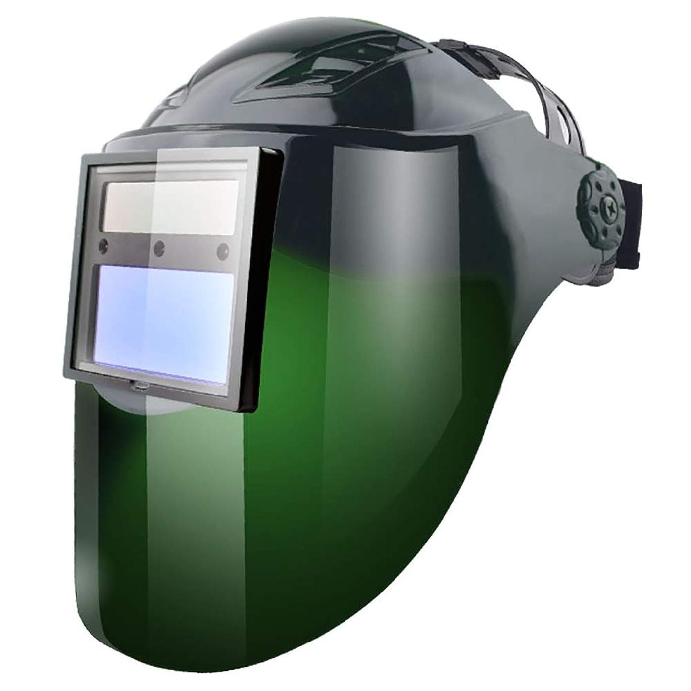 反対するリンス弱い梁友 溶接マスク - 自動調光ヘッドマウントメガネアンチローストフェイスアルゴンアーク安全溶接キャップフェイスヘルメット 溶接ヘルメット (色 : C)
