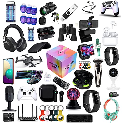 WUHX Mystery Box, Scatole Mystery, Mystery Box Electronics, Eccellente Rapporto qualità-Prezzo, Stile Casuale, Come droni, Orologi Intelligenti, gamepads e Altro, Tutto è Possibile
