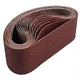 HYY-AA 18 Paquete de Bandas abrasivas 3x21 Pulgadas (75X533mm) Óxido de Aluminio Cinta de Lijado (3 Cada de 60 80 120 180 240 400 Grits) for la Correa Sander