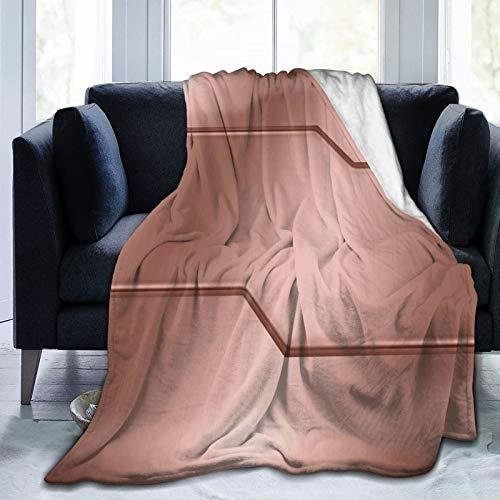 Manta esponjosa, superficie de acero con aspecto realista, diseño inspirado en la tecnología de imagen, ultra suave, manta para dormitorio, cama, TV, manta para cama de 50 x 40 pulgadas