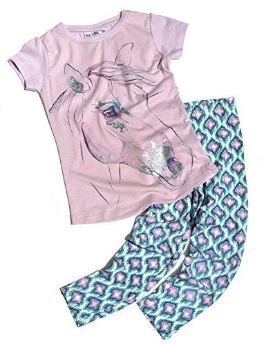 Ice Girl meisje T-shirt paard glitter met legging roze 16180380