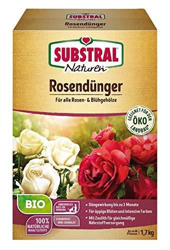 Substral Naturen Bio Rosen, Organisch-mineralischer Volldünger für alle Rosengewächse, wirkt bis zu 12 Wochen, 1,7 kg
