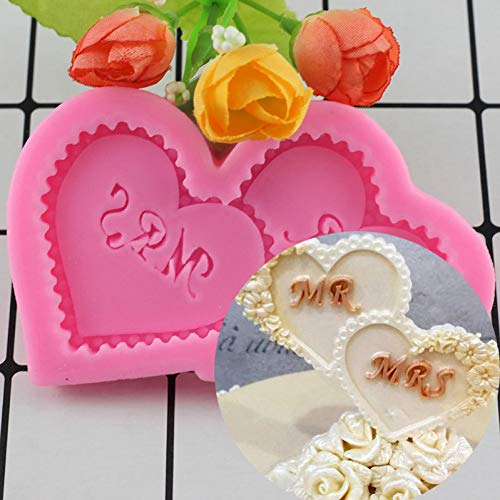 YCEOT Love Heart Shaped Silicone Mold Wedding Cake Decoration Fondant Chocolate Candy Biscuit 3D Food Grade Mould Kitchen Baking Tools