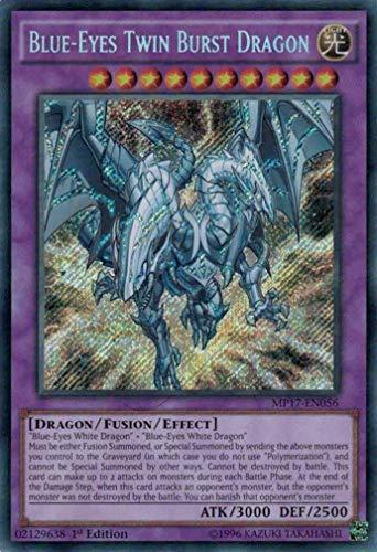 Yu-Gi-Oh! Blue-Eyes Twin Burst Dragon - MP17-EN056 - Secret Rare - 1st Edition - 2017 Mega-Tin Mega Pack (1st Edition)
