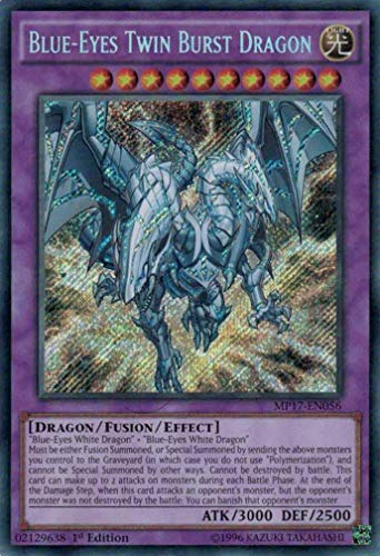 Yu-Gi-Oh! Blue-Eyes Twin Burst Dragon - MP17-EN056 - Secret Rare - 1st Edition - 2017 Mega-Tin Mega Pack (1st Edition)