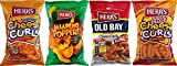 Herr's Baked Cheese Curls, Jalapeno Poppers, Old Bay Seasoned Curls & Hot Curls Variety 4-Pack