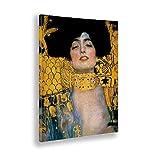 - Cuadro - Gustav Klimt - Primer Plano de Giuditta - Estampado en Lienzo - Listo para Colgar - Varios tamaños - 50x70 cm