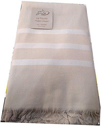 Jolie Caballeros toalla playa tamaño maxi Esponja de algodón lisa 3rayas con flecos 150x 200varios colores