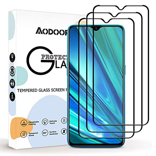 Aodoor Protector Pantalla Realme 5 Pro, [3 Pack] [9H Dureza] Cristal Templado, [Resistente a Arañazos] Vidrio Templado Screen Protector para Realme 5 Pro