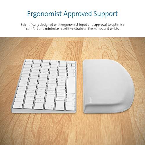Kensington K50435EU ErgoSoft Handgelenkauflage für flache, kompakte Tastatur, grau - Ergonomische Unterstützung, Geschwungenes Design, Robust, leichte Reinigung, Geeignet für MacBook, iMac